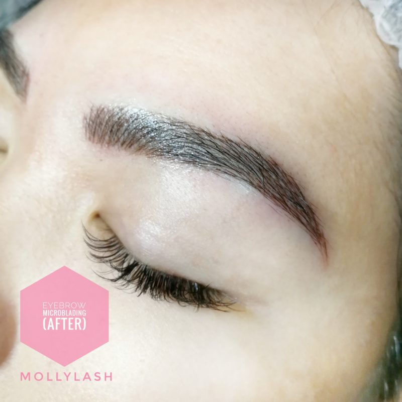 Microblading Client 4 – After Closeup